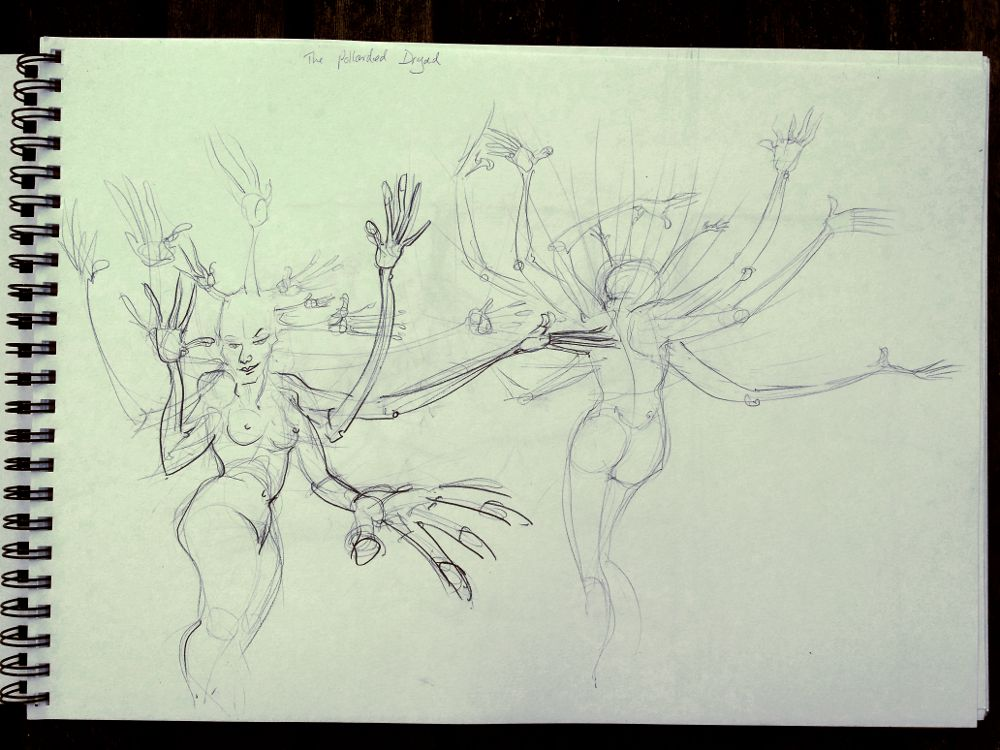Sketch: Pollarded dryads