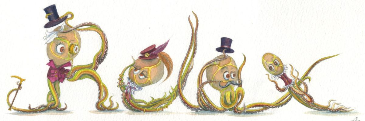 'Relax' in Steampunk / Victorian Octopi