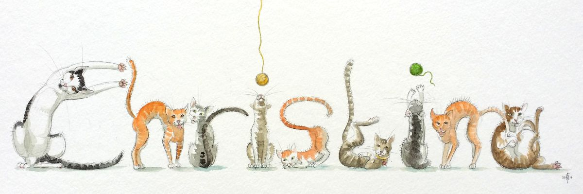 Spelling Animals: Christina in Cats