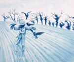 'Winter Tree Demons', watercolour by Nancy Farmer, 2015
