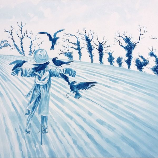 'Winter Tree Demons', watercolour by Nancy Farmer, 2015