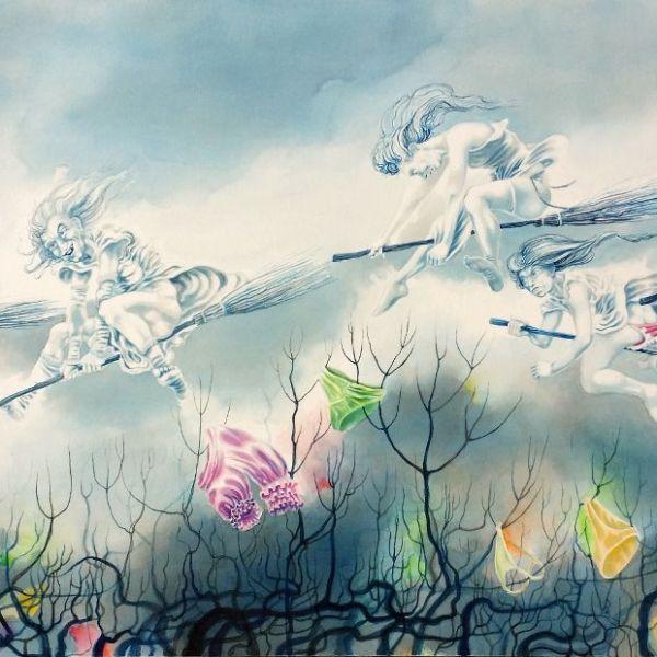 'Maiden Flight' by Nancy Farmer, watercolour, 2015
