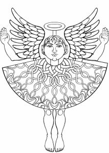 Colouring-in paper angel number 3