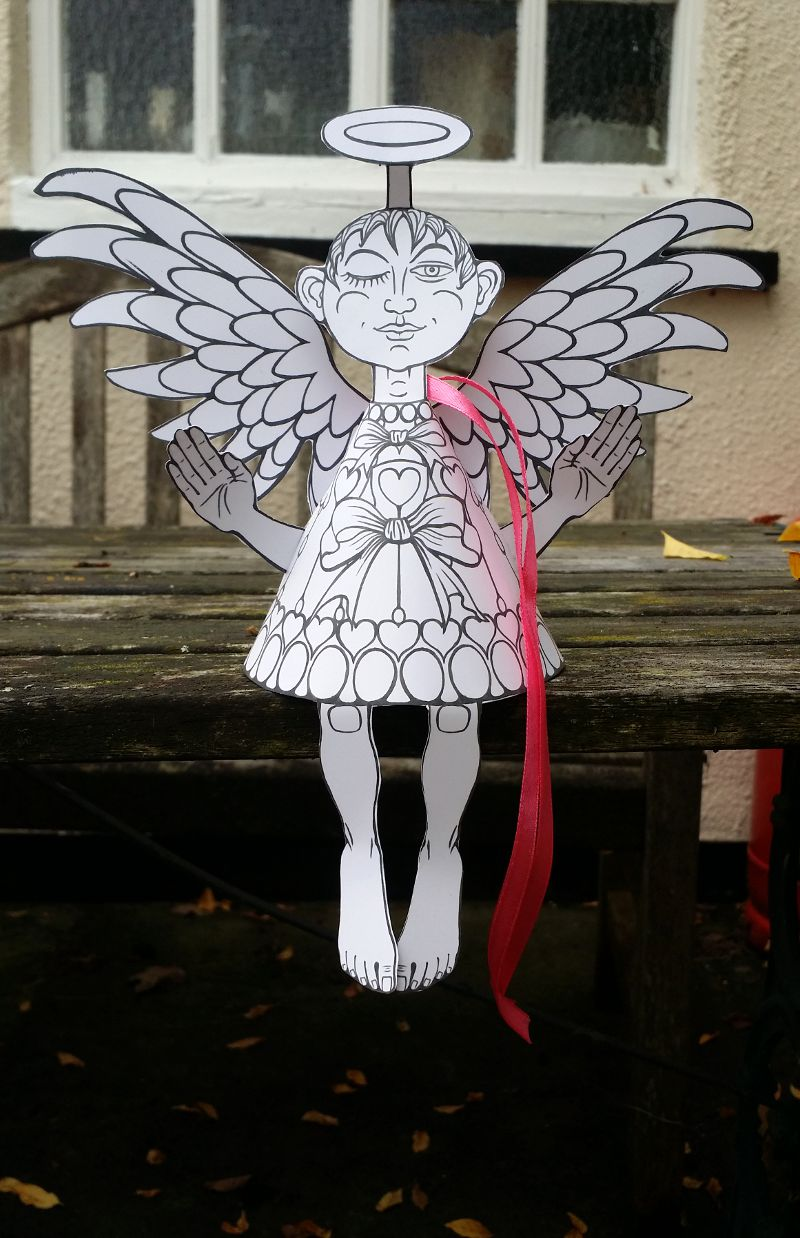Finished Paper Angel no.1