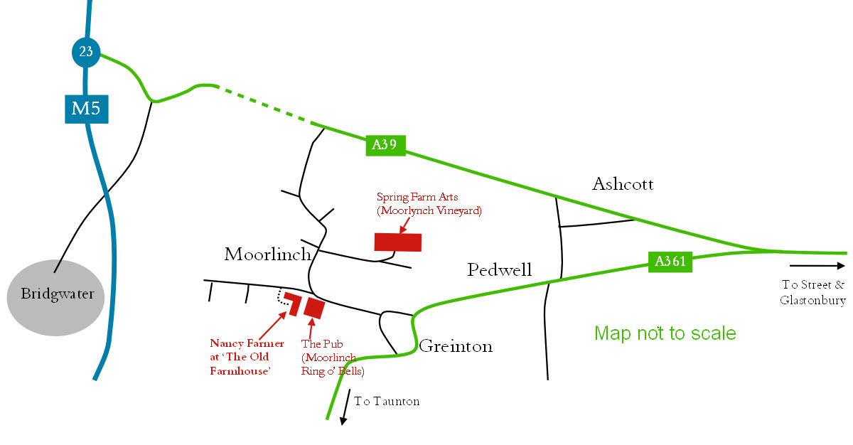 The Old Farmhouse and Spring Farm Arts - map