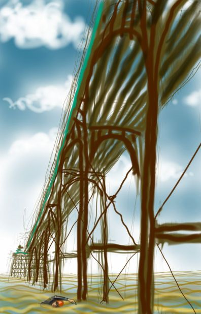 'Under the Arches' - modified version with a different swimmer (the original swimmer was me)