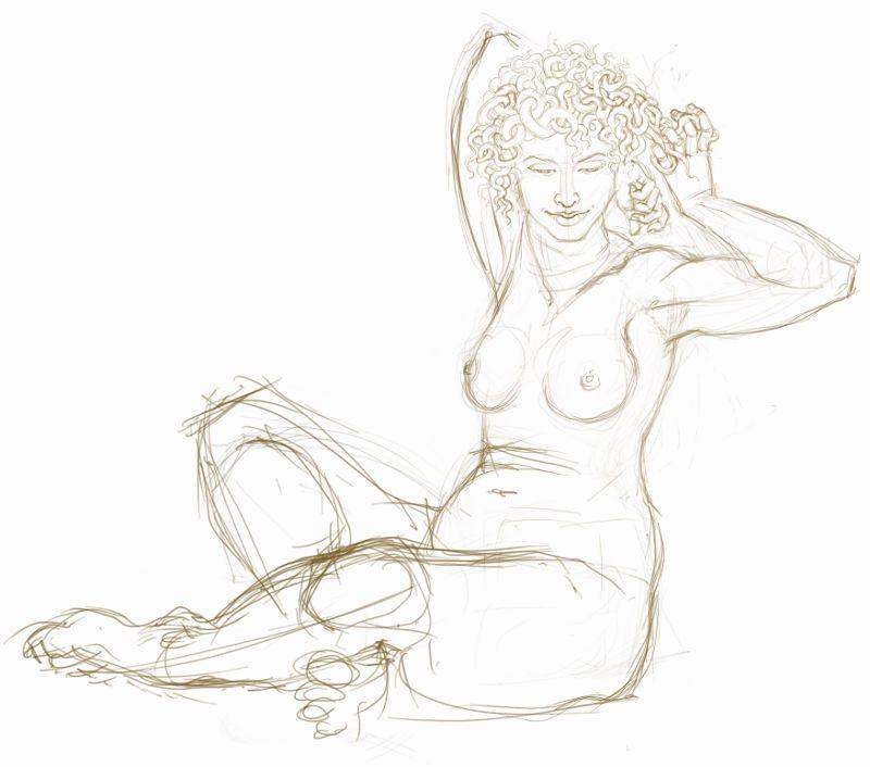 Medusa of the Levels - sketch