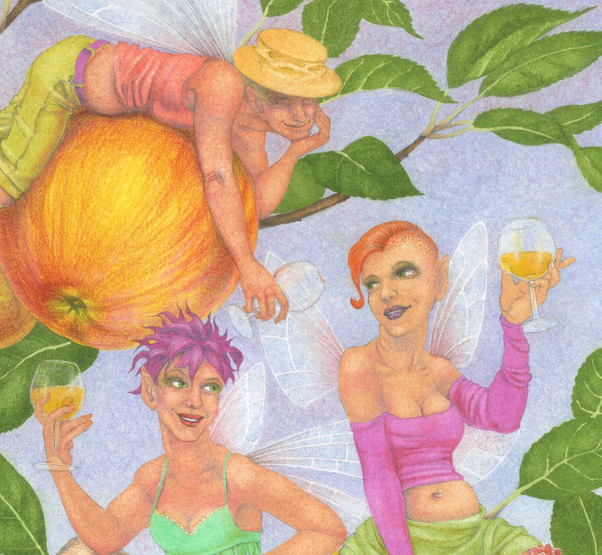 Cider Apple Fairies - detail 2