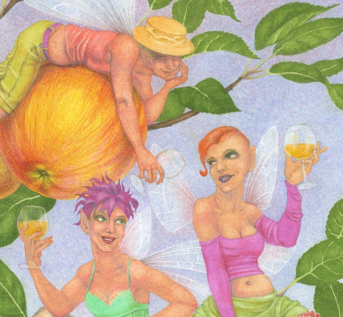 Cider Apple Fairies - detail 2