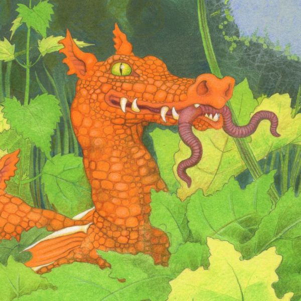 Ditch Dragons forage for worms, beetles and other small game