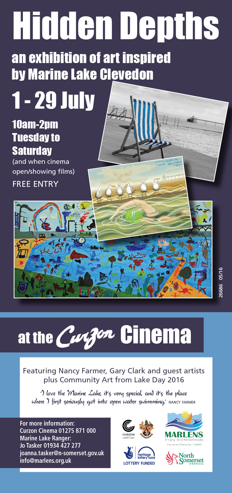 Hidden Depths - exhibition at the Curzon Cinema, Clevedon