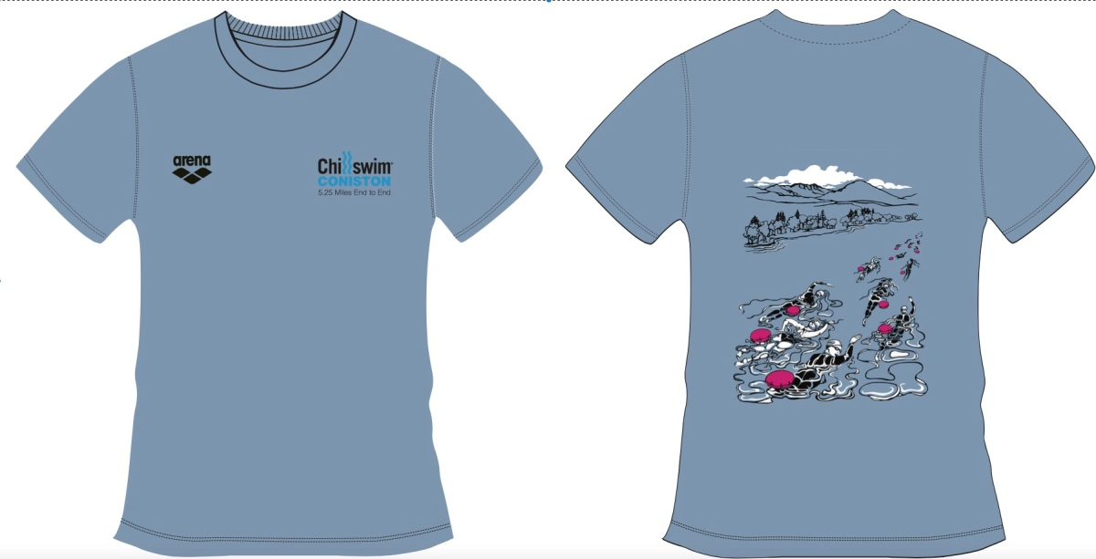 Chillswim Coniston end-to-end tshirts
