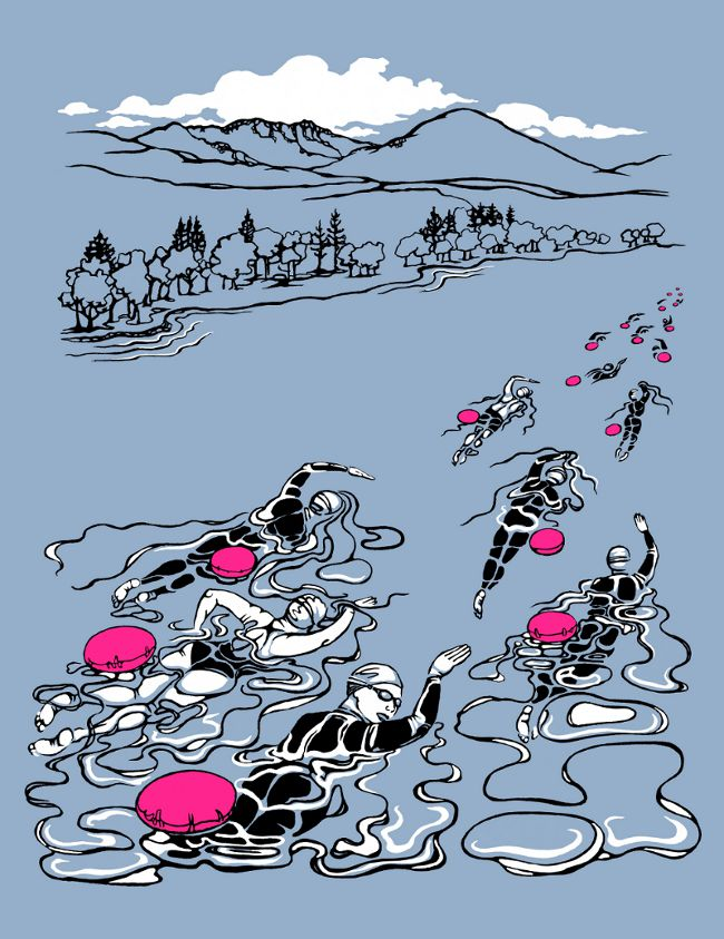 Design for Chillswim coniston end-to-end swim t-shirt