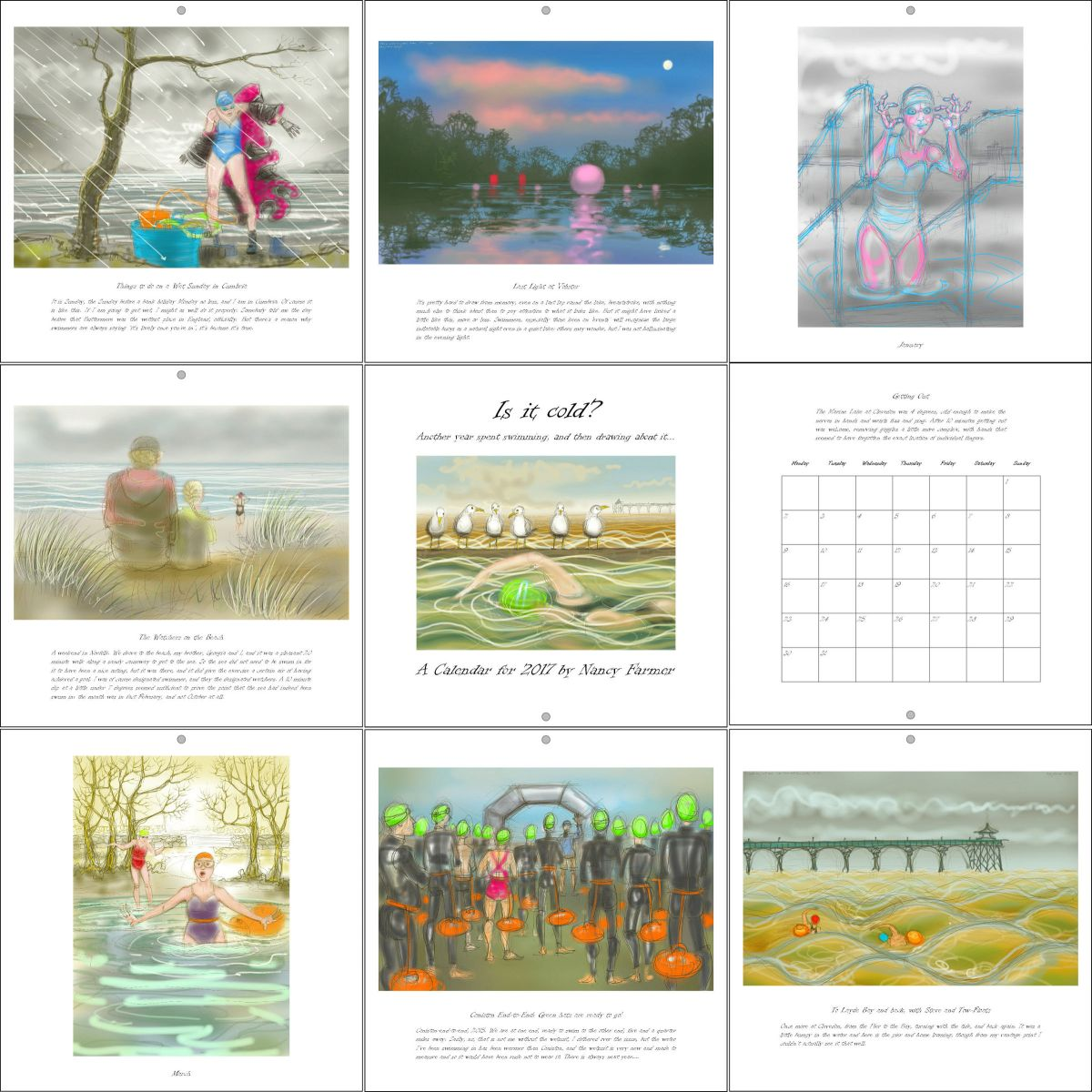 Pages from the Swimming Calendar