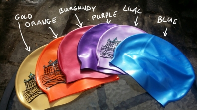 Sample swimming hat colours