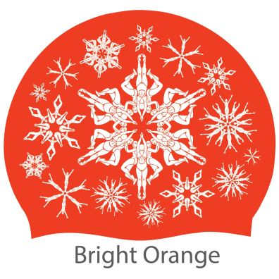 'Swimflakes' hat, orange