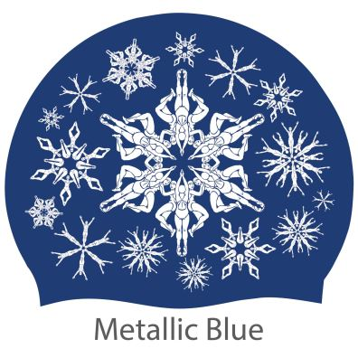 'Swimflakes' hat, blue