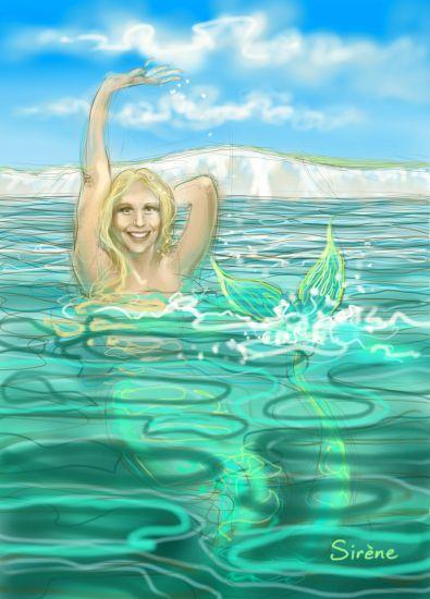 Chloe McCardel, mermaid
