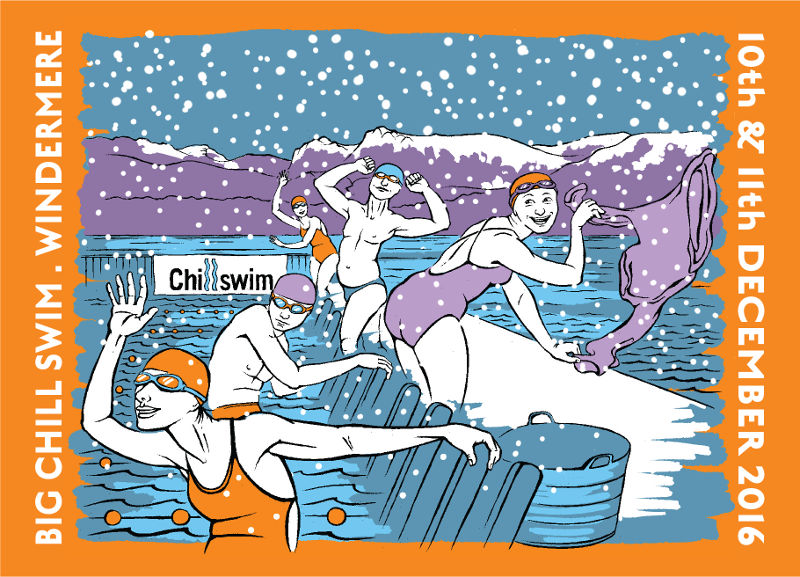 The Big Chill Swim - event postcard