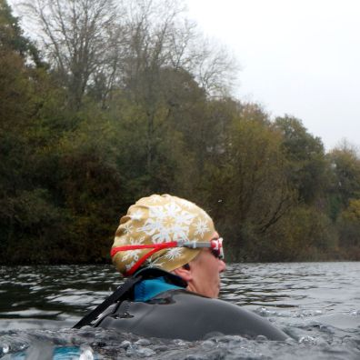 Swimming hat in action - at Vobster Quay