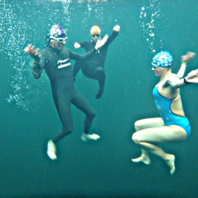 Messing about underwater with the new hats