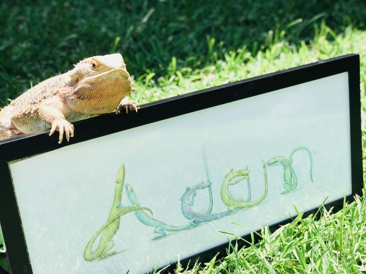 Adam and lizard