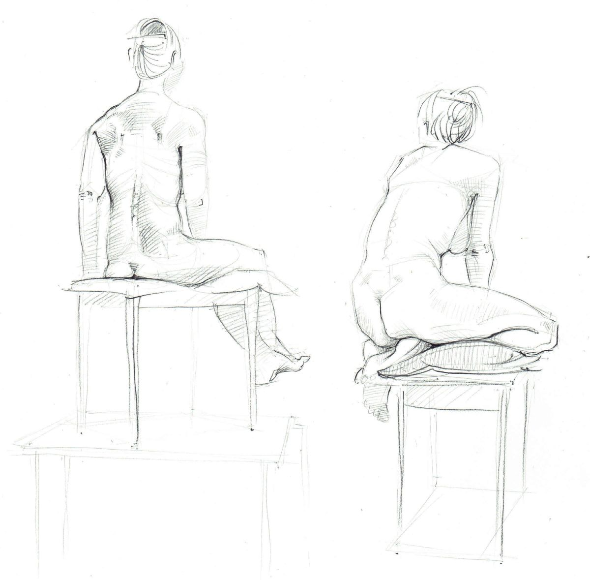 Life Drawing, pencil on paper, Nancy Farmer Jan 2019