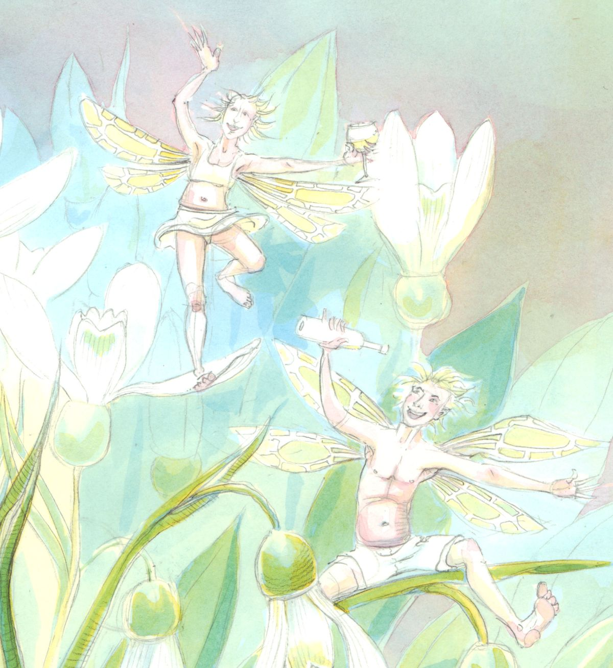 Drunk Snowdrop Fairies