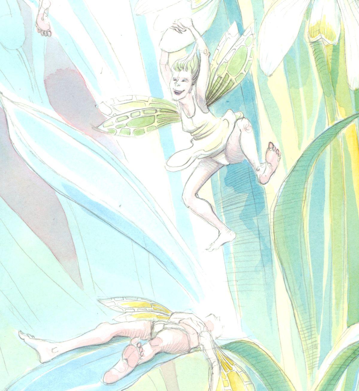 Snowdrop fairies... and their pants!