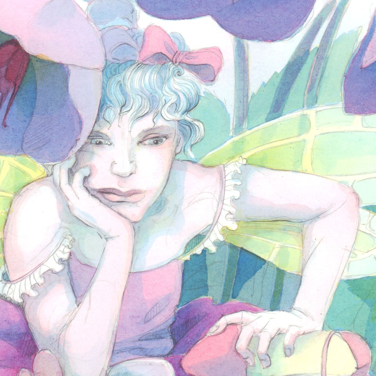 Lenten Rose Fairy - close-up.